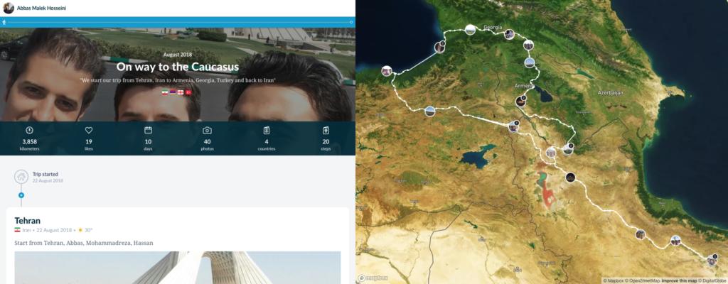 مسیر سفر به قفقاز
